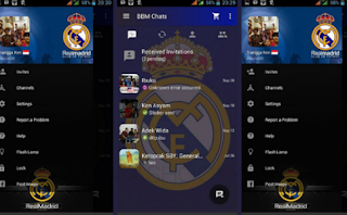 Download BBM Real Madrid Apk