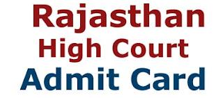 Rajasthan High Court Admit Card