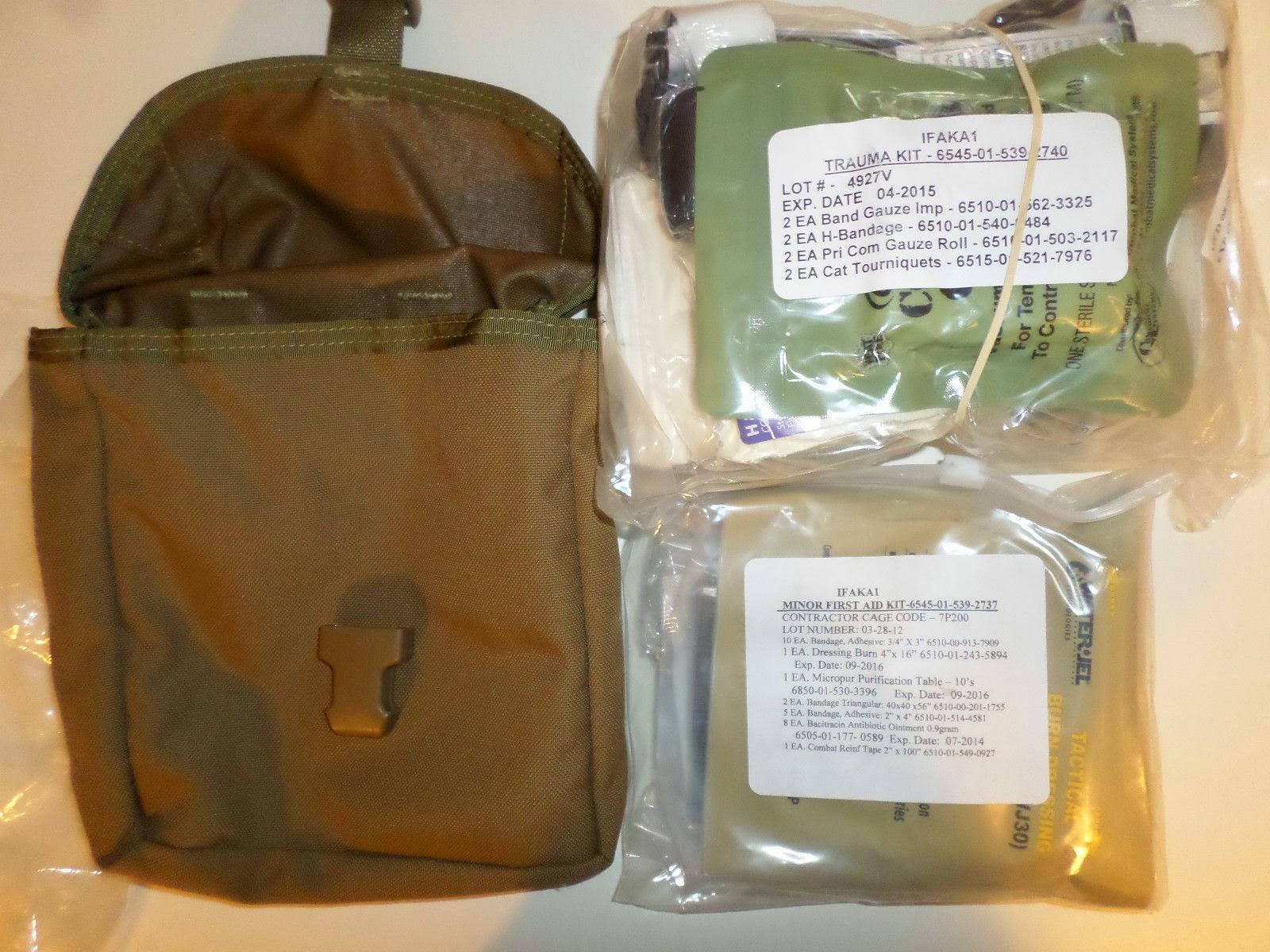 Webbingbabel: USMC First Aid Kit IFAK A1 2006