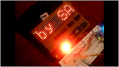 Dot Matrix Display using Arduino pro Mini
