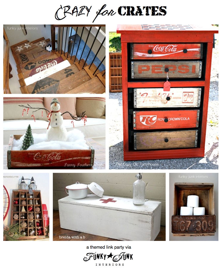 CRAZY FOR CRATES - a themed party LOADED with awesomely creative crate creations, via Funky Junk Interiors. This one is truly ALL ABOUT CRATES