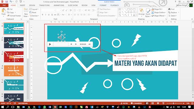 cara menyimpan dan mengambil file mp3 dari powerpoint
