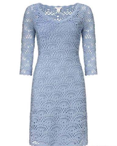 Vestido Azul Cielo a Crochet