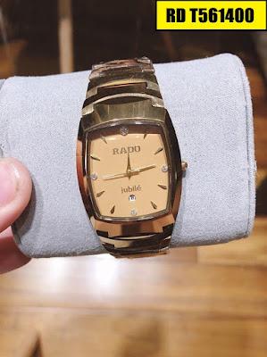 Đồng hồ Rado dây đá ceramic vàng RD T561400
