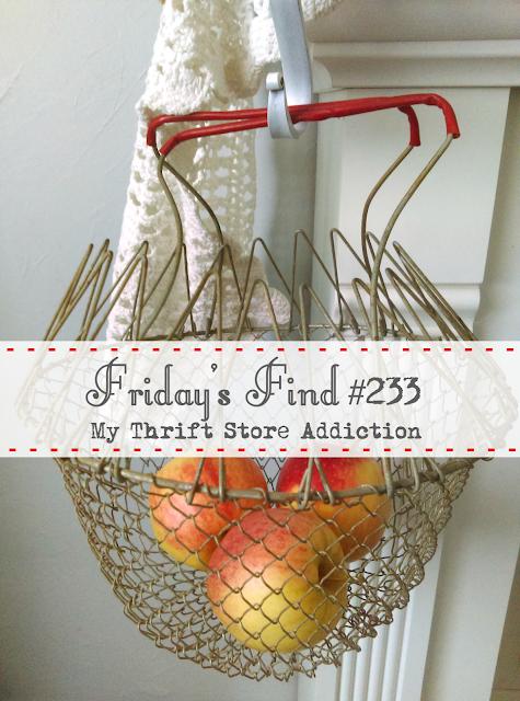 thrifted vintage egg basket