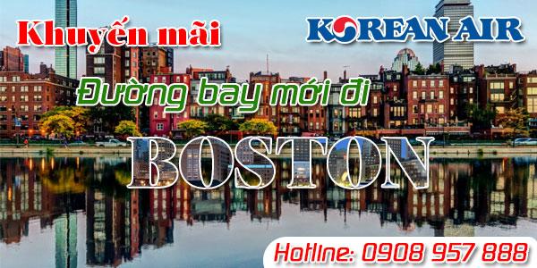 Korean Air khuyến mãi đường bay mới Boston