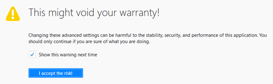 Firefox void warranty