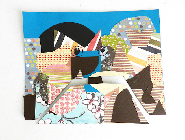 kids art paper collage