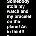 Someone steals Comedian Bovi's watch & bracelet on a plane