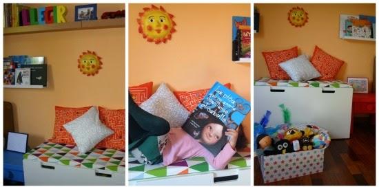 Rincón de lectura infantil para fomentar la lectura