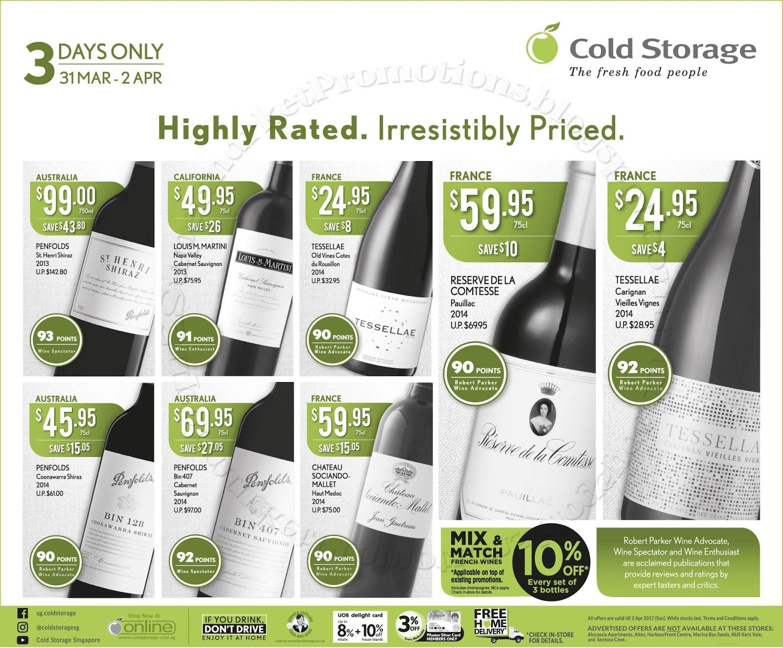 Cold storage wine promotion