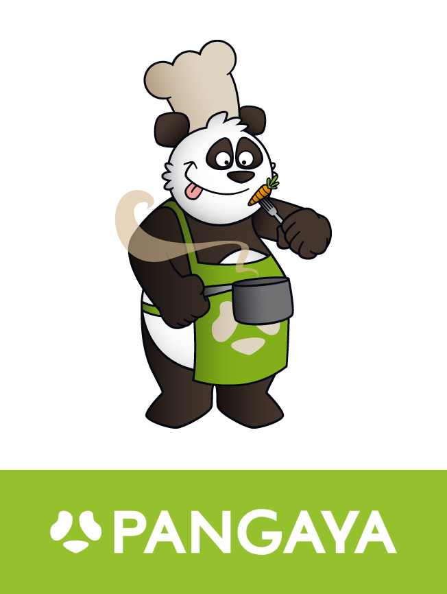 Création mascotte panda Pangaya