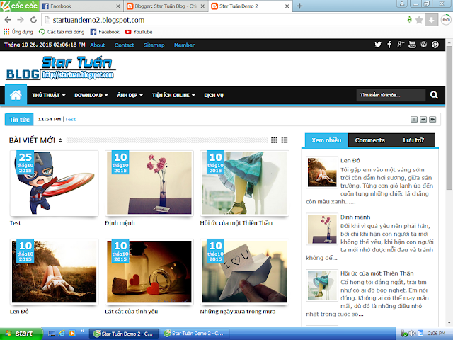 [Share] Template Giao Diện Blogspot