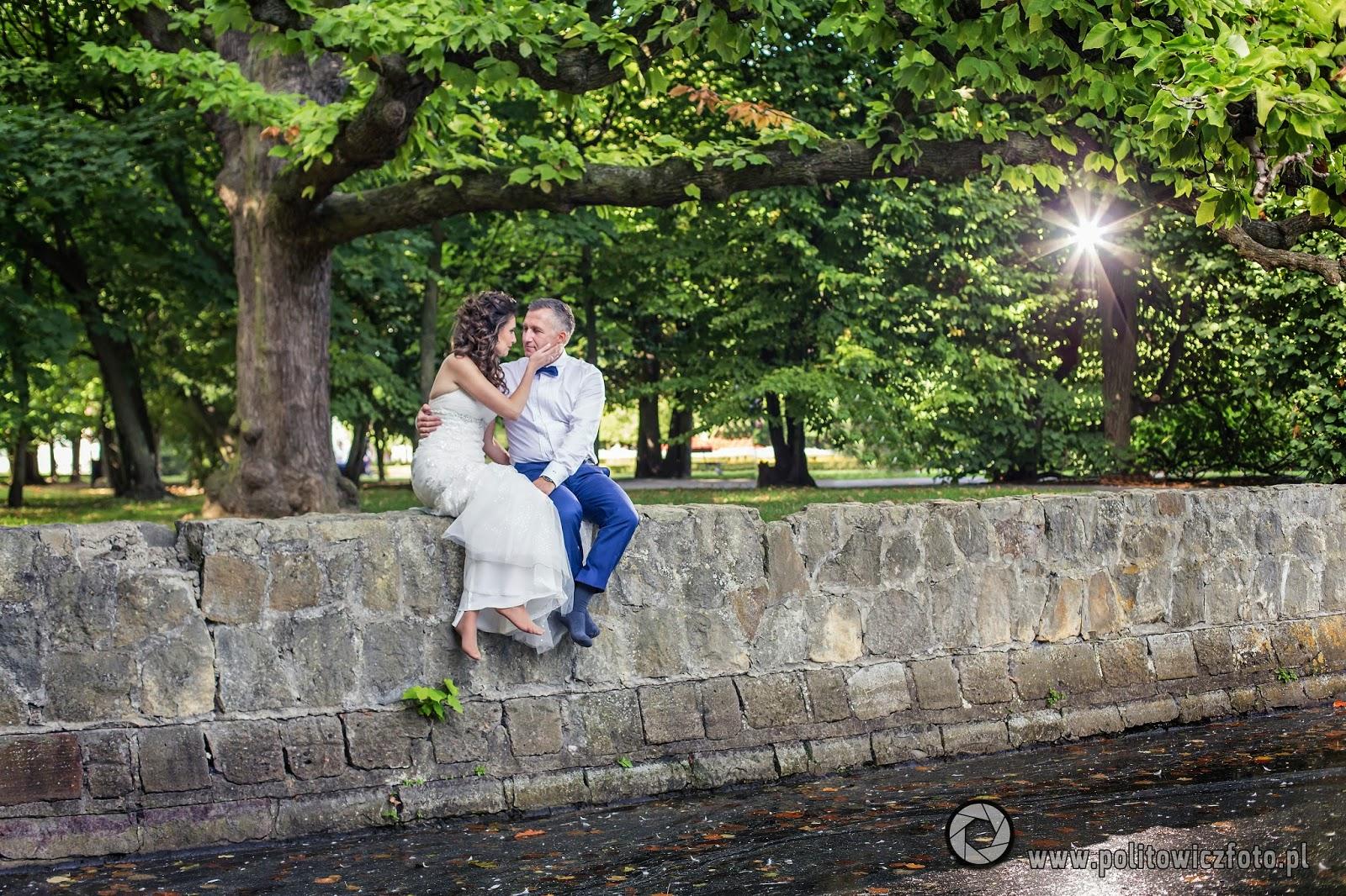 plener ślubny w Parku Oliwskim
