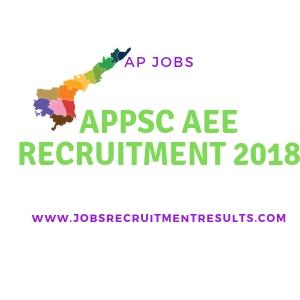 APPSC AEE NOTIFICATION 2018 PSC.AP.GOV.IN