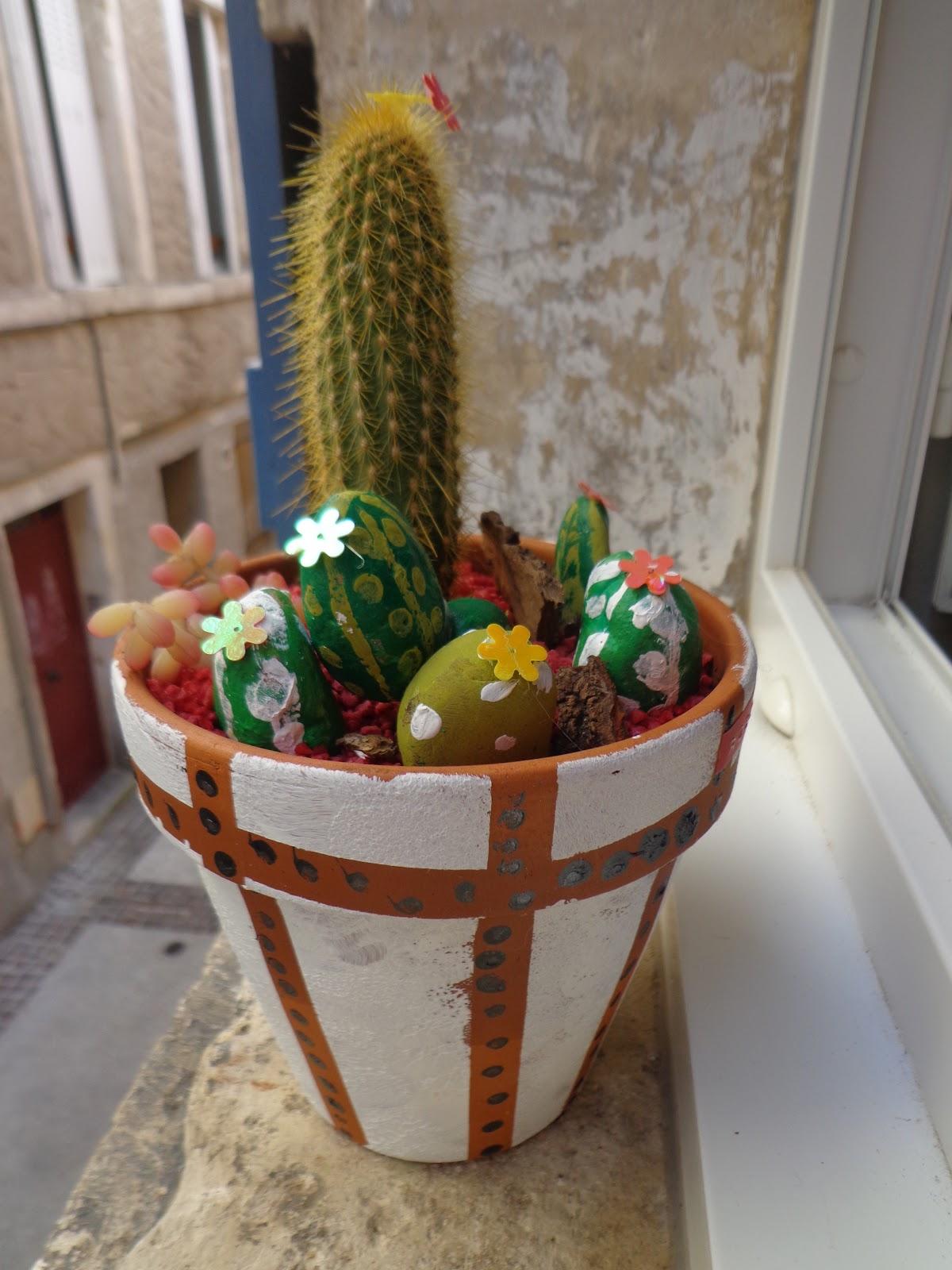 atelier de christelle f te des peres theme les cactus pour les grands peinture sur. Black Bedroom Furniture Sets. Home Design Ideas