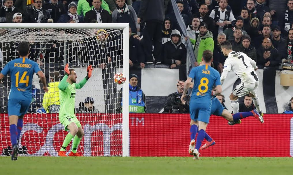 Grande rimonta Juventus: tris di CR7 Cristiano Ronaldo all'Atletico Madrid di Simeone, Juve ai quarti!