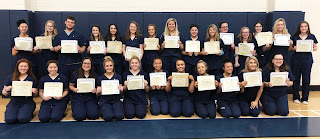 The pinning ceremony honored twenty-six seniors in the Medical Careers vocational program