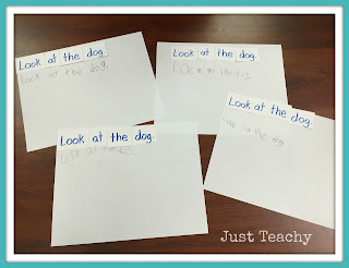 Guided Reading-Cut Apart Sentences