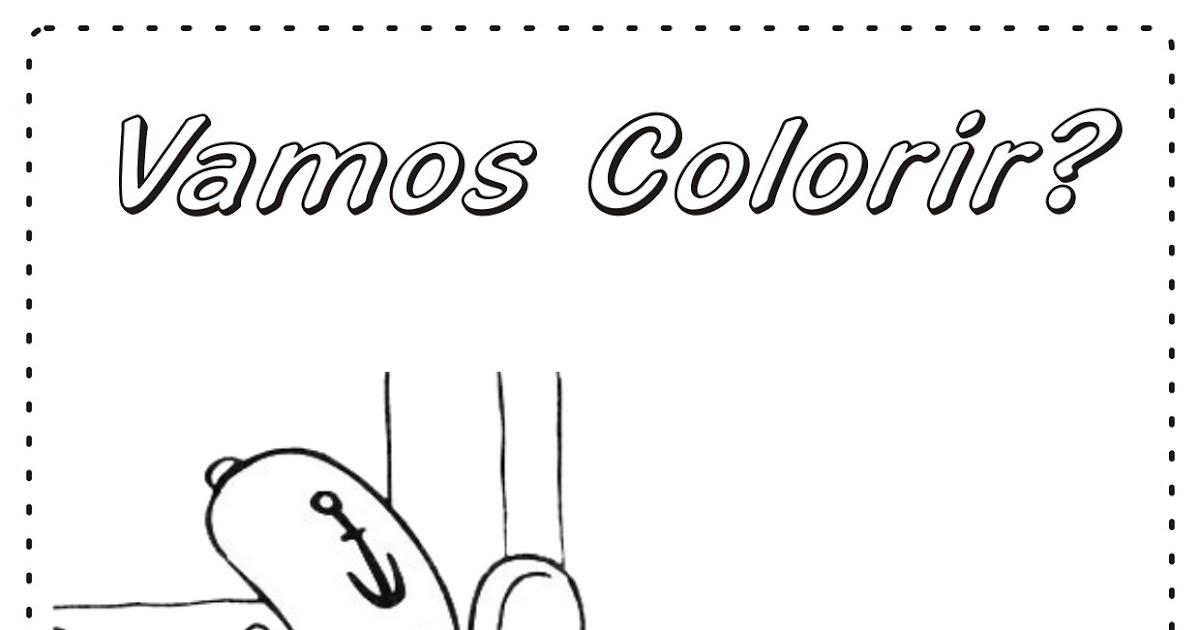 Desenho Para Colorir Lula Molusco