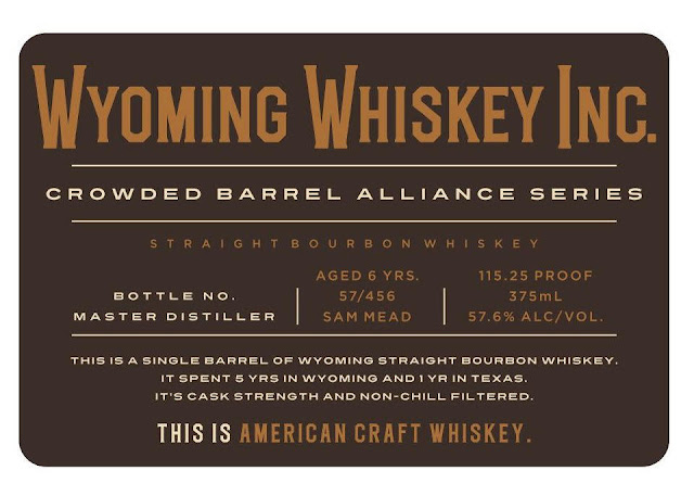 Valentine Weiss Whiskey - Wyoming Whiskey Inc Crowded Barrel Alliance Series