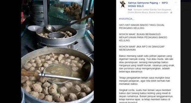 Viral 'Hati-Hati Makan Bakso yang Dijual Pedagang Keliling' Buat Netizen Geram Sampai Ngakak