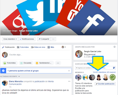 Facebook, grupos facebook, facebook groups, redes sociales, bienvenida,