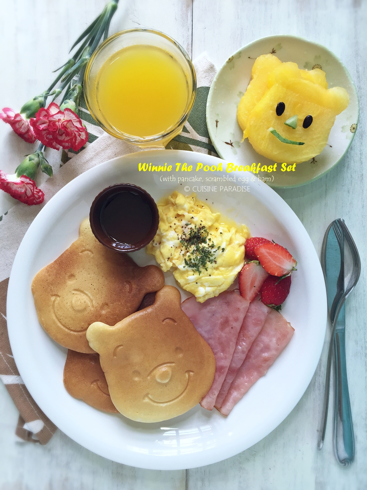 Cuisine paradise singapore food blog recipes reviews and travel recipe video winnie the pooh breakfast set forumfinder Images
