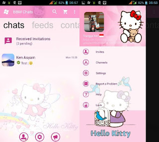 Download BBM Mod Pink Hello Kitty Based APK V3.0.0.18 Terbaru