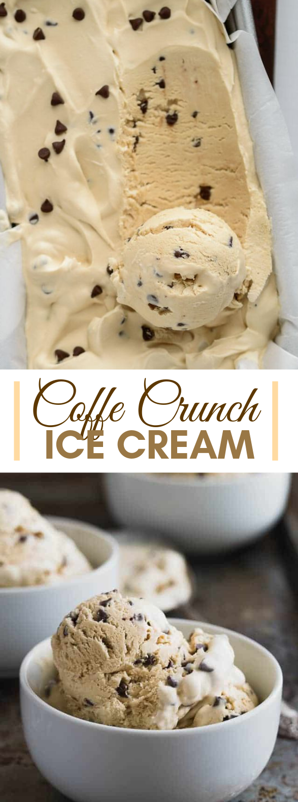 Coffee Crunch Ice Cream (No Churn) #dessert #chocolate