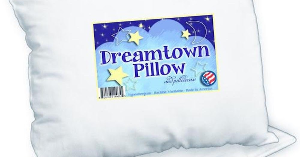 Baby Shop Dreamtown Kids Toddler Pillow With Pillowcase