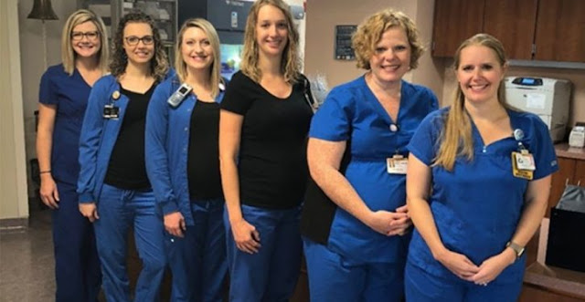 6 Nurses From The Same Hospital Pregnant At The Same Time!
