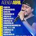 Agenda de shows de Abril 2016 - Cavaleiros do Forró