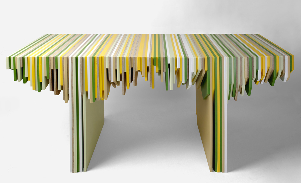 If it 39 s hip it 39 s here archives rabih hage turns leftover dupont corian into a modern Furniture made from recycled plastic