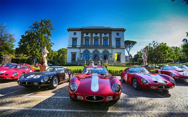 Villa Cora, Italian Lifestyle, Ferrari 250 GTO birthday rally, GTO Cavalcade