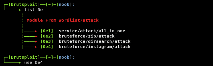 Bruteforce Instagram login with BruteSploit