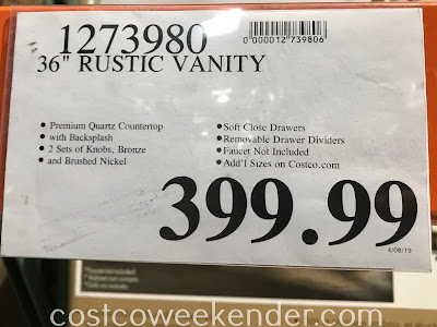 Deal for the Northridge Home Rustic Bathroom Vanity at Costco