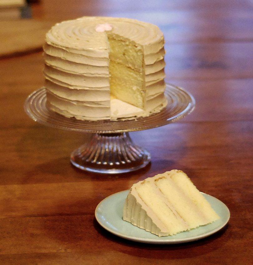 Triple Layer Vanilla Cake Recipe
