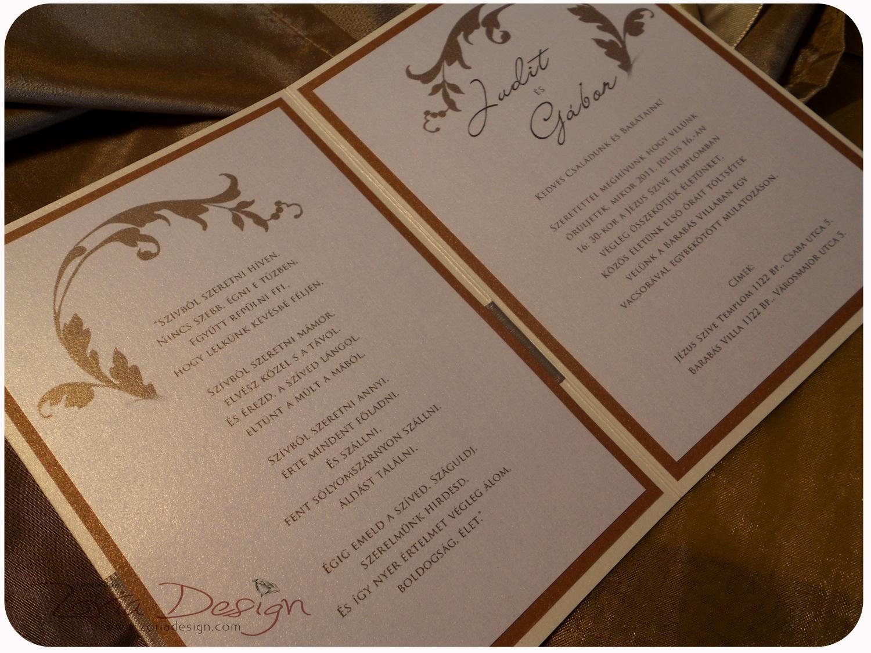 ef3293971e Zoria Design: Ha túl sok a szöveg ... (kétoldalas esküvői meghívók)