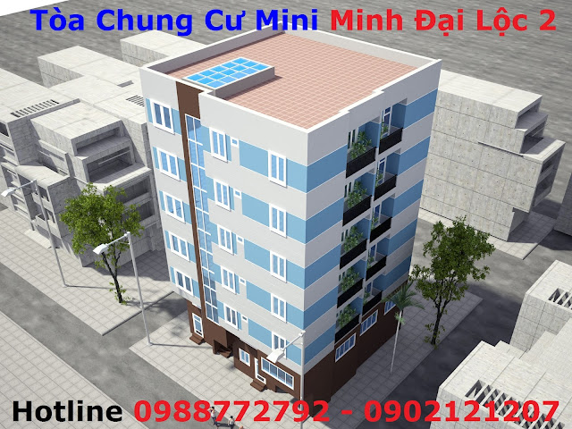 Phối cảnh tòa chung cư mini Minh Đại Lộc 2 đẹp nhất Hà Nội