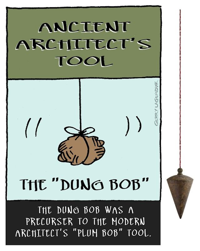 the Dung Bob plum bob, architect cartoon