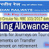 7th Pay Commission : Entitlements for Journeys on Tour or Training, Transfer and on retirement for Railway Employees