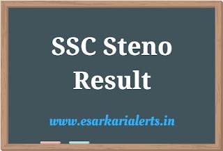 SSC Steno Result 2017