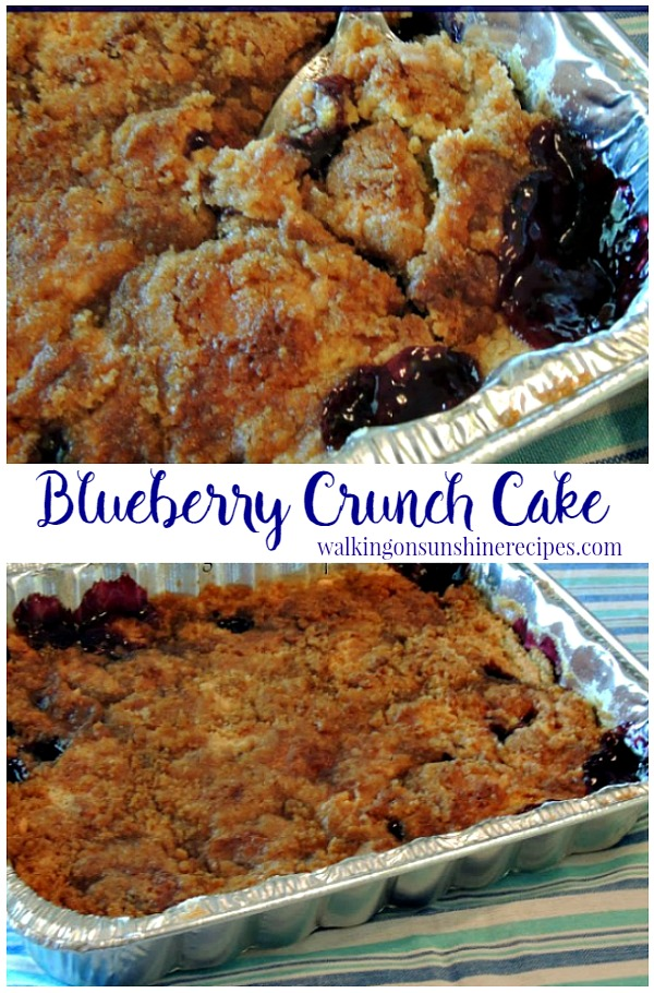Blueberry Crunch Cake from Walking on Sunshine Recipes