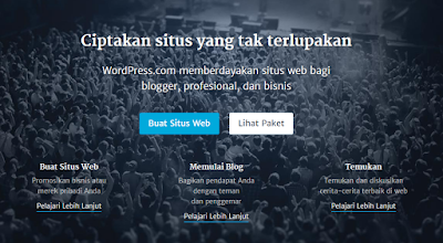Mendaftar blog di wordpress