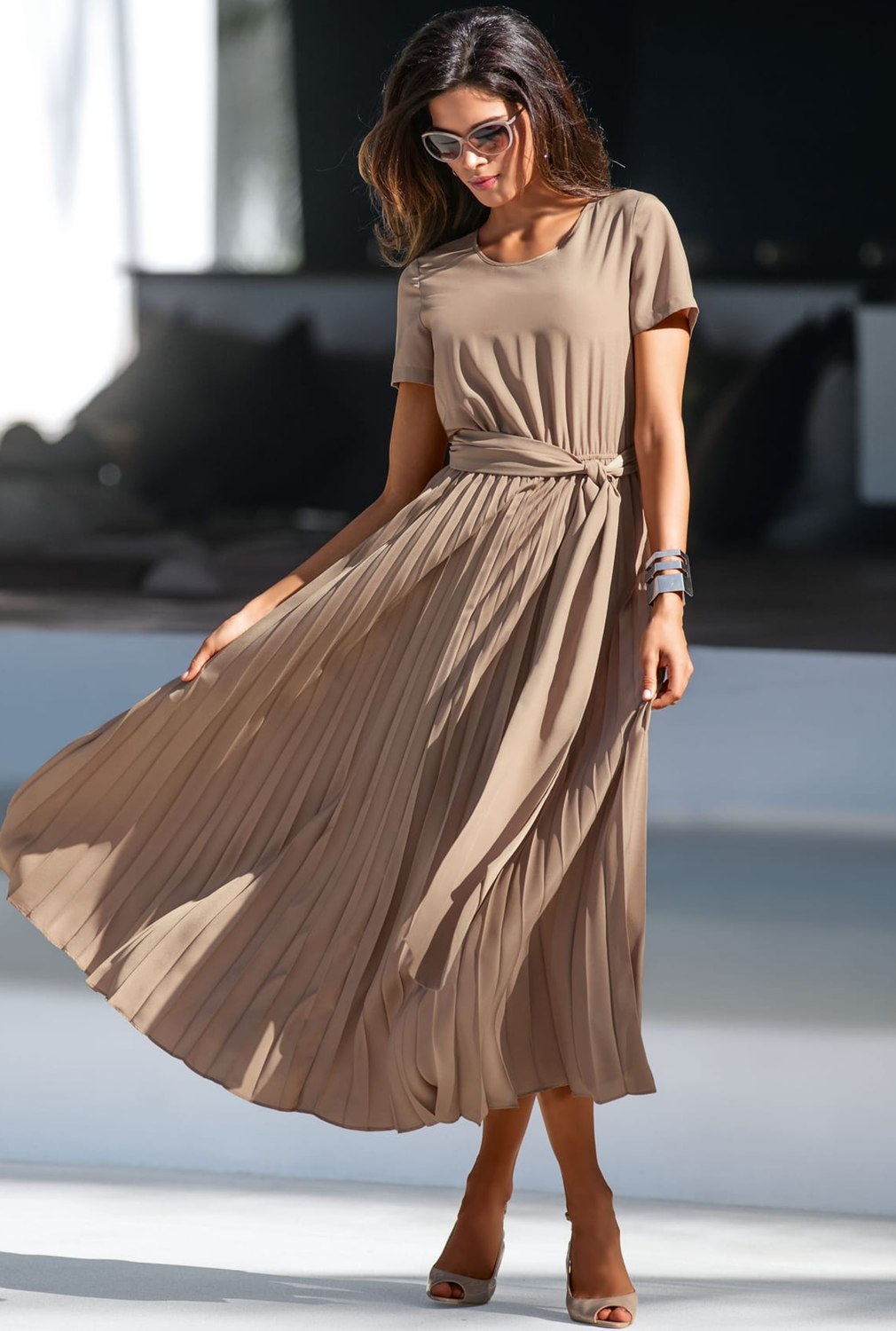 Madeleine Taupe Dress