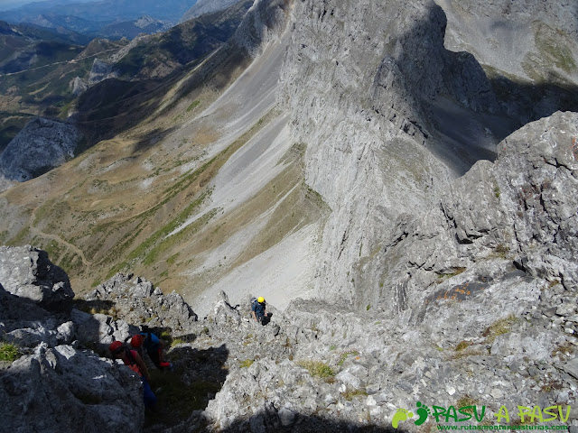 Ruta Peña Ubiña por la Arista Norte: arista norte