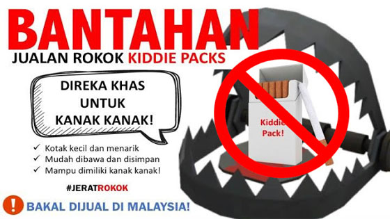 Rokok Kiddie Pack Jerat Rokok Untuk Kanak-Kanak