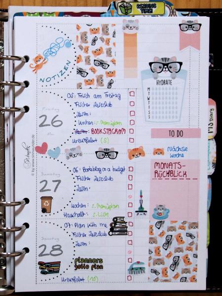 Plan with me: Freitag bis Sonntag