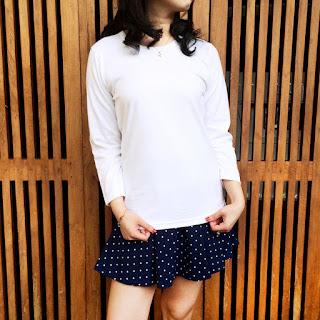 Jual Kaos Kuyaku Kaos Polos Premium Tangan Panjang Cotton Combed 30s putih